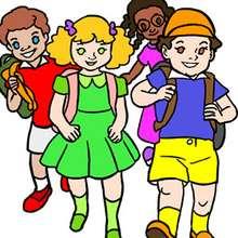 Kinder in der Schule Puzzle