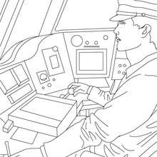 Train driver coloring page