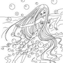 Die kleine Meerjungfrau zum Ausmalen
