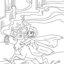 Die Schneekönigin Märchen zum Ausmalen