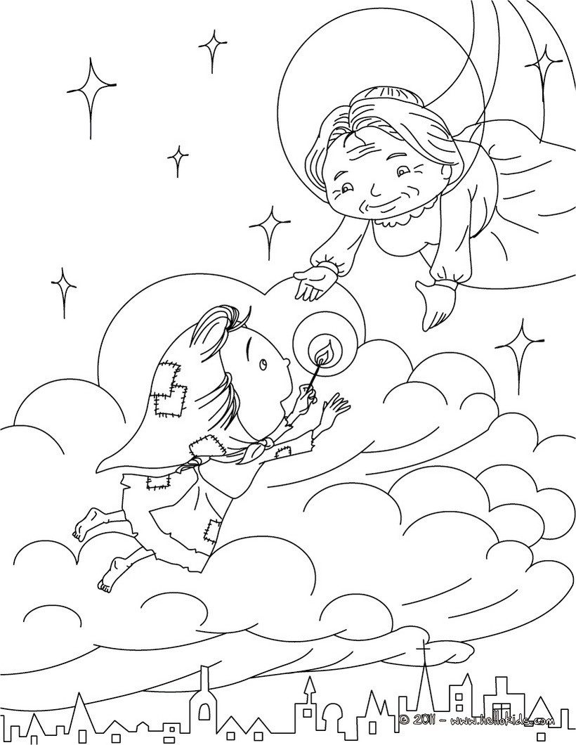 h c andersen coloring pages - photo#7