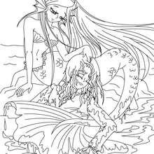 Die kleine Meerjungfrau Märchen zum Ausmalen