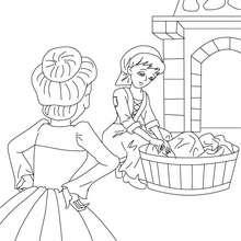 CINDERELLA fairy tale coloring page
