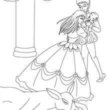 DONKEYSKIN tale coloring page