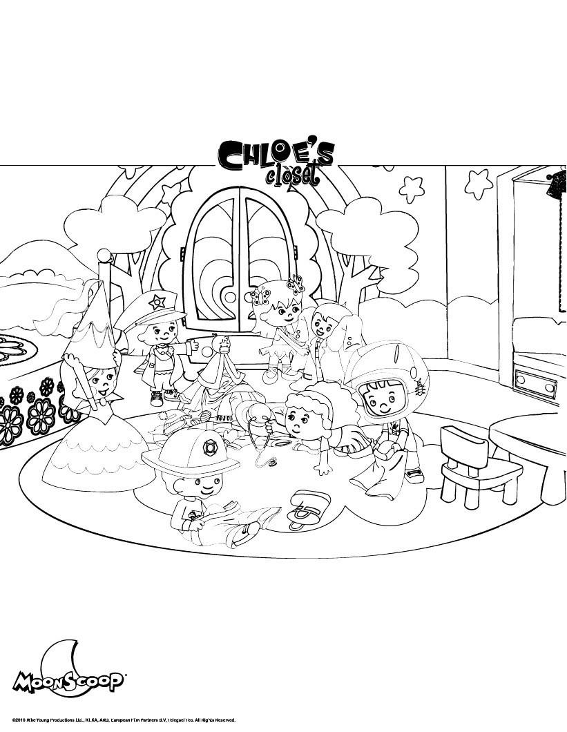 Chloes Zimmer Zum Ausmalen