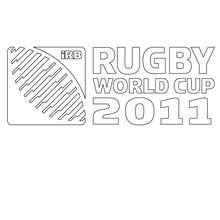 Rugby Weltmeisterschaft 2011 zum Ausmalen