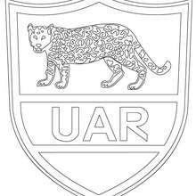 Argentinien Rugbymannschaft UAR zum Ausmalen