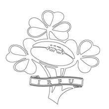 Irland Rugbymannschaft IRFU zum Ausmalen