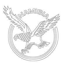 Namibia Rugbymannschaft zum Ausmalen