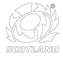 Schottland Rugbymannschaft zum Ausmalen
