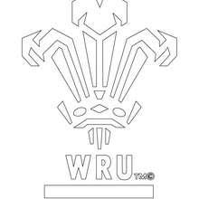 Wales Rugbymannschaft WRU zum Ausmalen