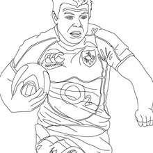 BRIAN DRISCOLL Rugbyspieler zum Ausmalen