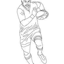 RICHARD Mc CAW Rugbyspieler zum Ausmalen