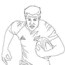 DAN CARTER Rugbyspieler zum Ausmalen