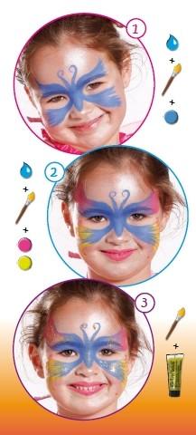 Glittereffekt SCHMETTERLING Gesichtsfarbe