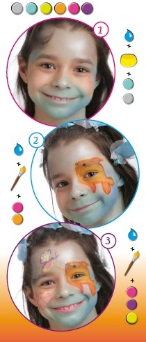 Fisch Schminke für Kinder