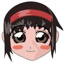 Mangamädchen Maske