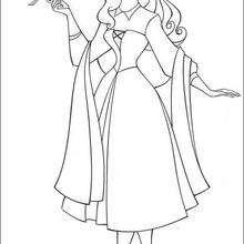 Prinzessin Aurora mit einem Vogel
