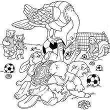 Fussballspiel zum Ausmalen
