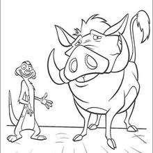 Timon und Pumbaa lächeln
