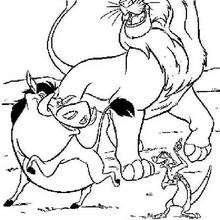 Simba, Timon und Pumbaa tanzen