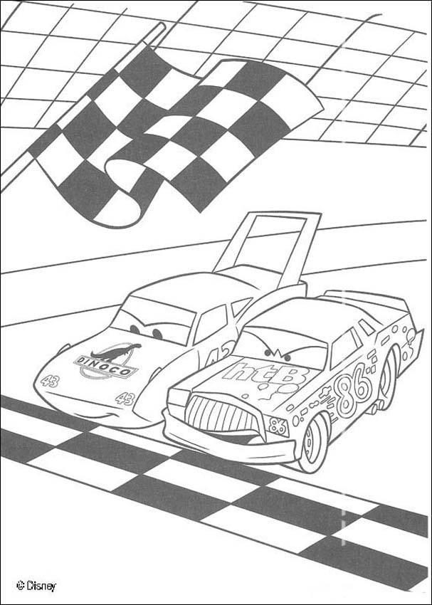 Cars Rennen Zwischen Chick Hicks Und The King Zum