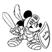 Micky Maus der Ritter