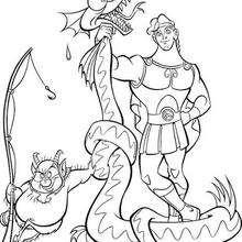 Herkules und Drachen