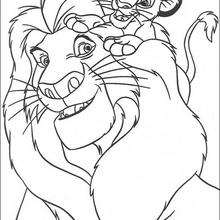 Simba mit Mufasa