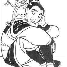 Fa Mulan und Mushu, der Beschützer der Fa Familie