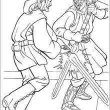 Jediritter Qui-Gon Jinn duelliert mit Darth Maul