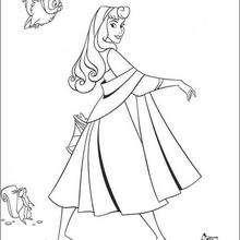 Prinzessin Aurora mit Tieren