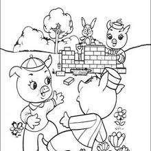 Schweinchen Schlau baut sein Steinhaus