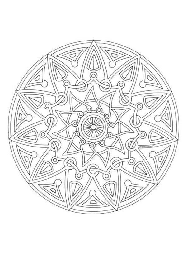 Mandala 143 zum ausmalen dehellokids