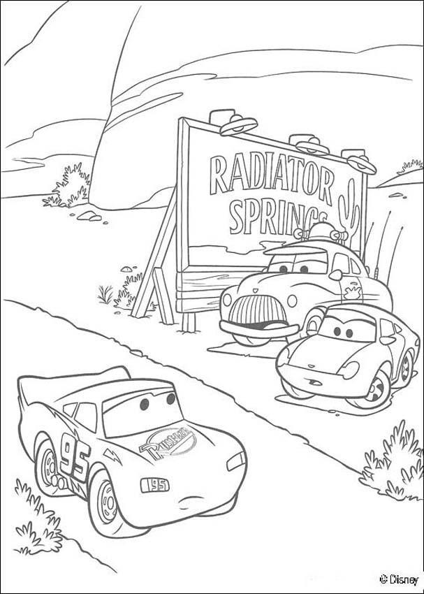 Cars Lightning Mc Queen Im Rennen Zum Ausmalen De Hellokids Com