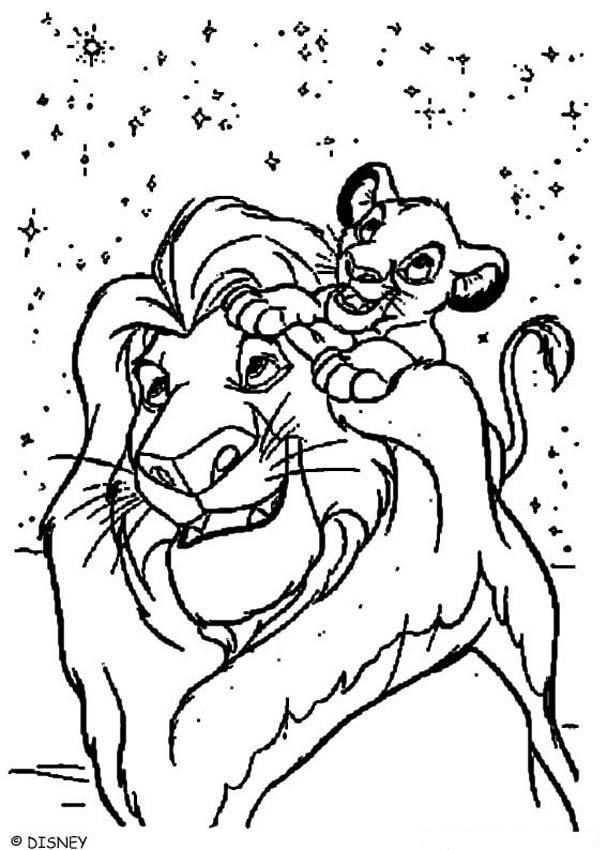 Fantastisch Löwen König Malvorlagen Mufasa Und Simba Galerie ...