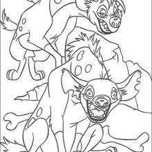 Zwei Hyänen, Shenzi und Banzai