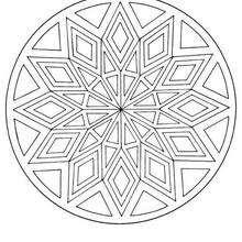 Mandala mit Diamantenmuster