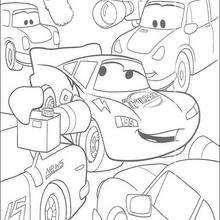 Cars: Der Gewinner der Rennens Lightning mc Queen