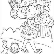Strawberry Shortcake mit einem großen Muffin