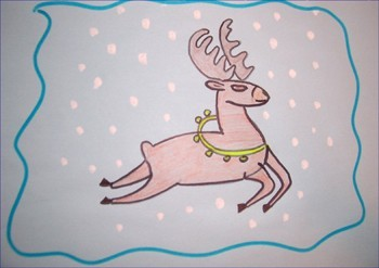 Wie man ein Weihnachtsrentier malt