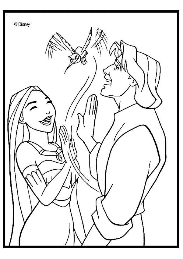 Pocahontas 5 zum ausmalen - Coloriage pocahontas ...