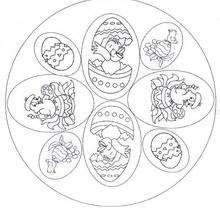 Osterküken Mandala zum Ausmalen