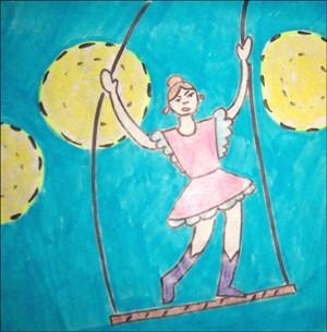 Wie man einen Trapezakrobaten malt