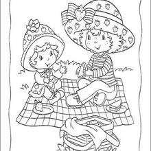 Strawberry Shortcake und Apple Dumplin picknicken