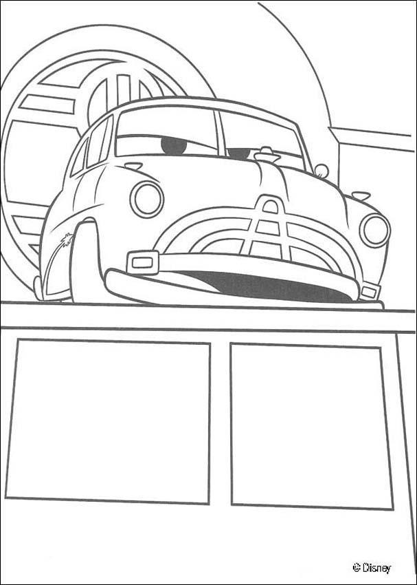 Cars Doc Hudson Zum Ausmalen Dehellokidscom