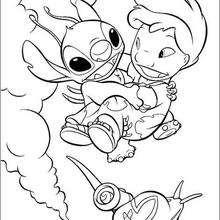 Lilo fliegt mit Stitch