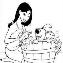 Mulan und ihr lieber Welpe Kleiner Bruder