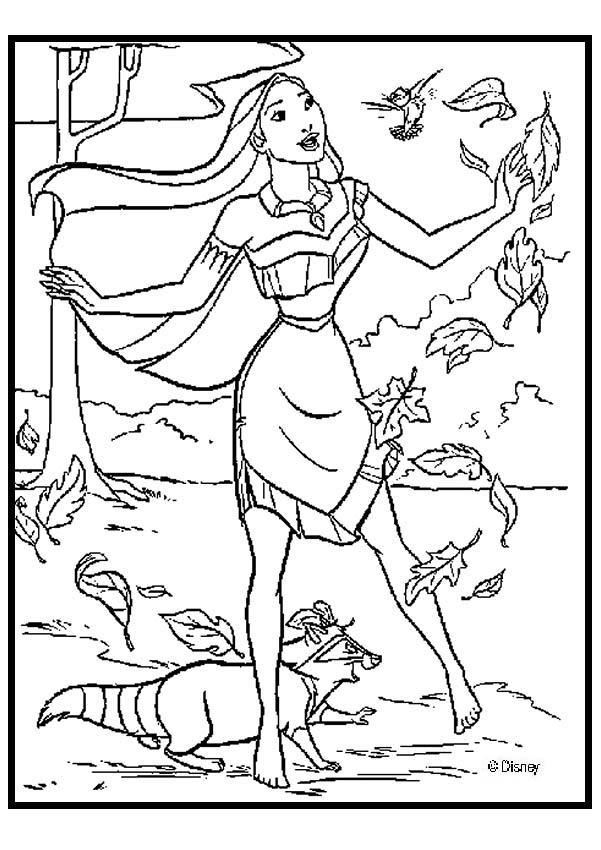 Pocahontas 3 Zum Ausmalen
