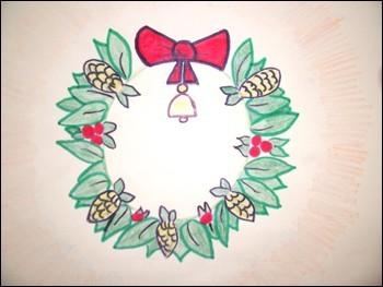 Wie man einen Weihnachtskranz malt